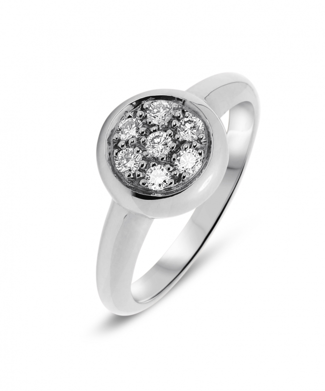 cfe58ba96a8 Bague Or Blanc Diamant Pavage 0.28 carats Ref. 34056