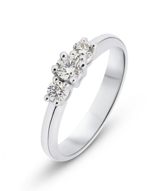 bague diamant 0 40