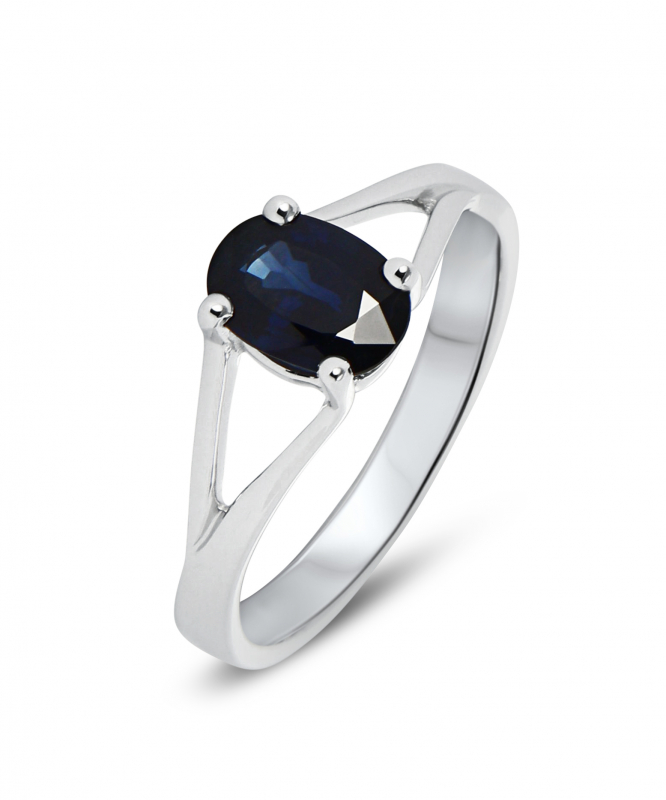 bague or saphire
