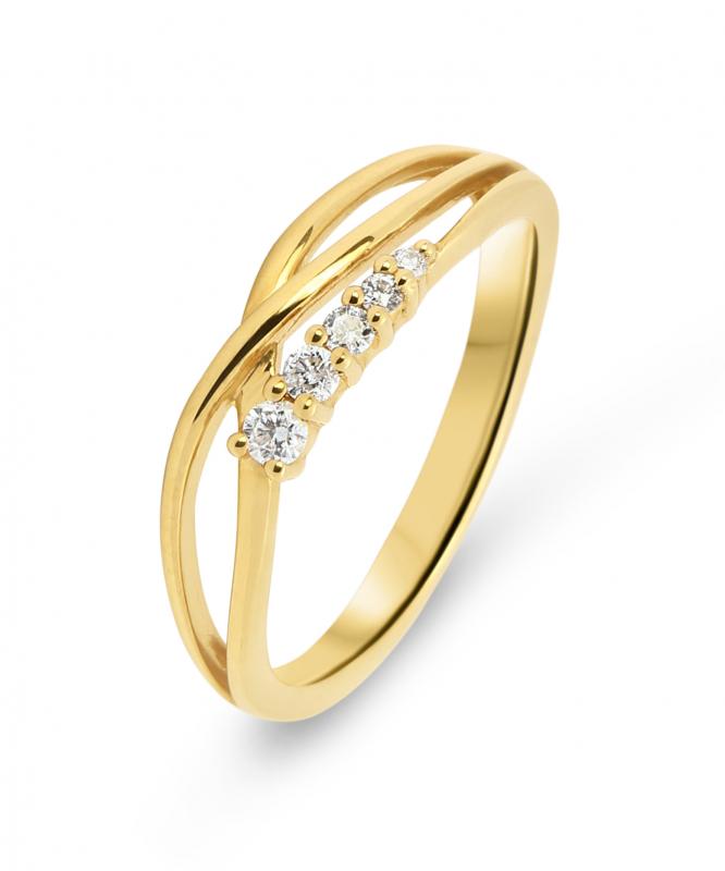 7b7ba9d56cf83 Bague Or Jaune 750 Diamant 0.10 carat Ref. 39759