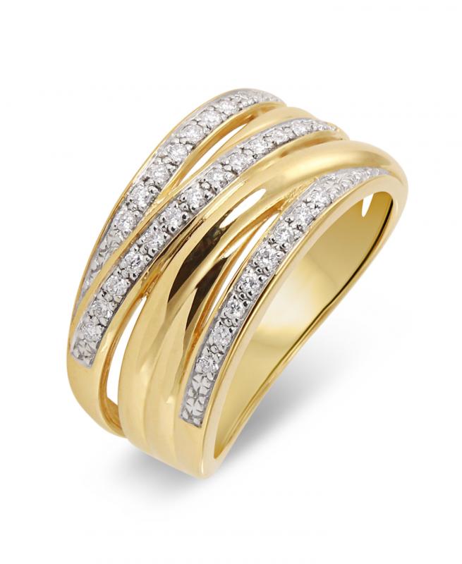 bague or jaune 750 diamant ref 39775. Black Bedroom Furniture Sets. Home Design Ideas