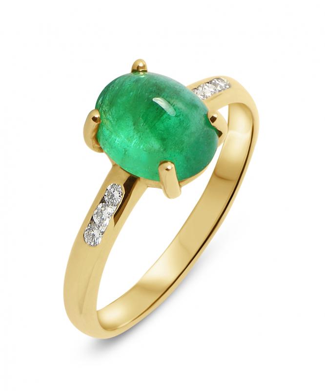 bague or et jade femme