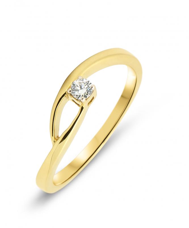 785bbd9478f Bague Or Jaune 750 et Diamant Ref. 42603