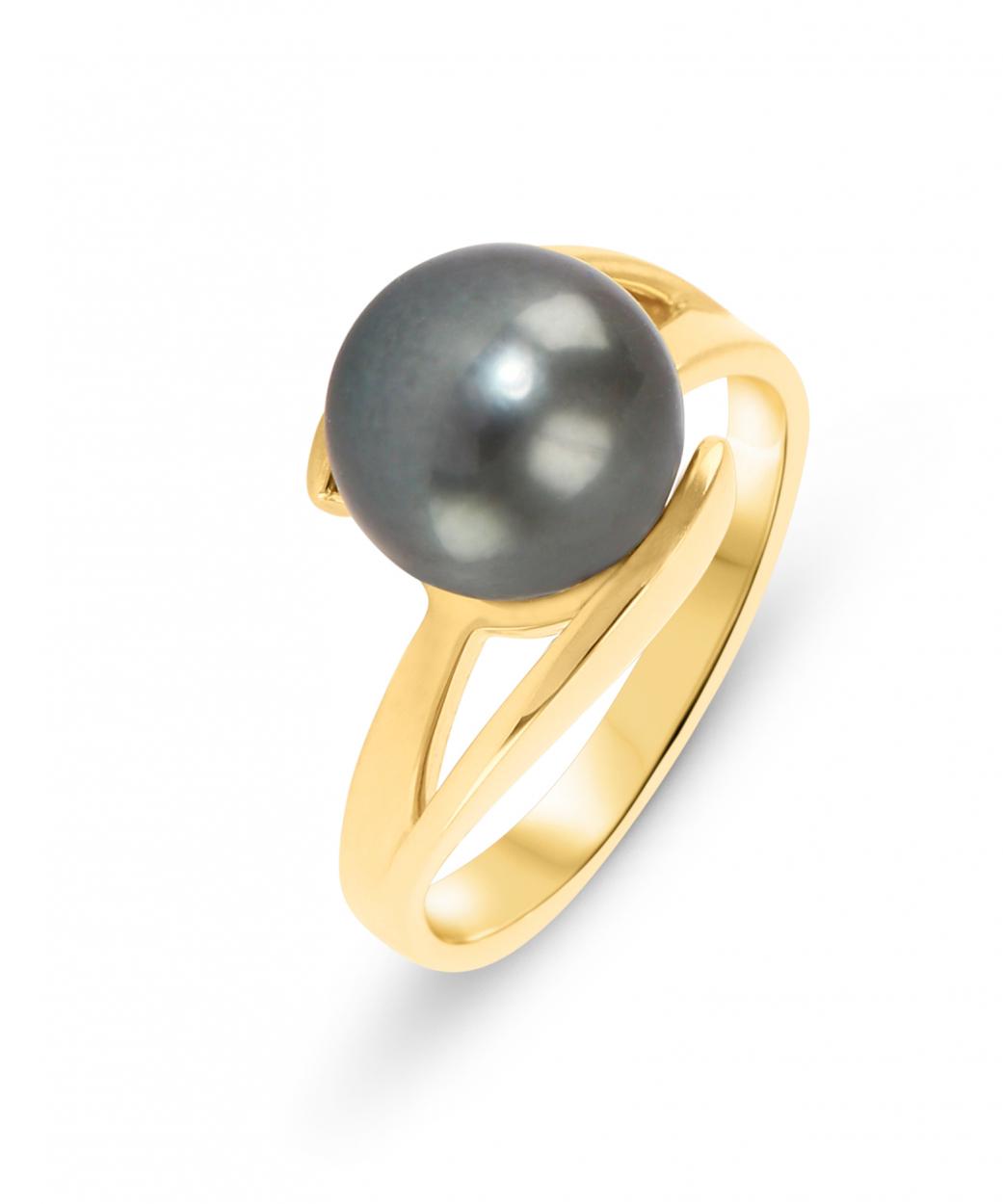 bague or avec perle de tahiti