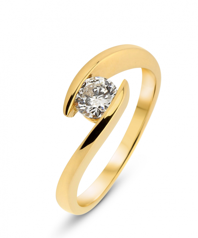 8df028fe55f Bague Or Jaune Diamant Corps Croisé Ref. 31939
