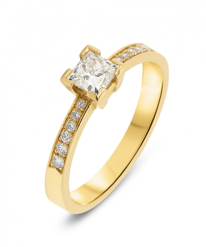 bague or jaune princesse