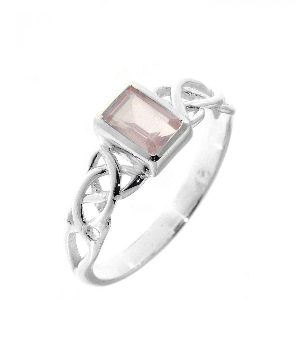 bague quartz rose argent motif celtique ref 32054. Black Bedroom Furniture Sets. Home Design Ideas