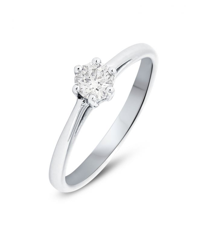 ba4fd1be70f Bague Solitaire Or Blanc 750 Diamant Ref. 44775