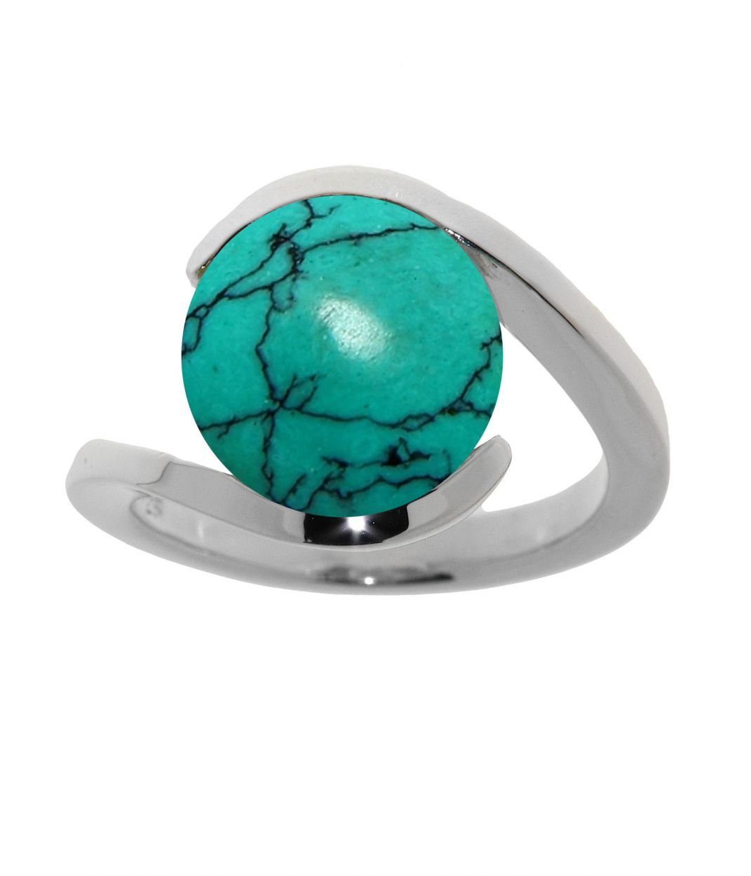 Bague turquoise moderne