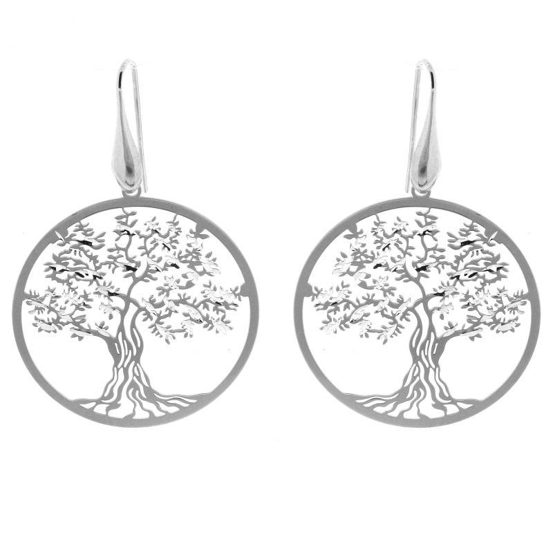 boucle d'oreilles arbre de vie