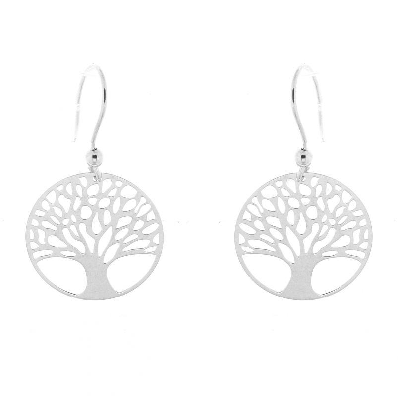 Boucle d'oreille argent arbre de vie
