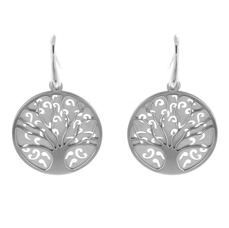 boucles d 39 oreilles arbre de vie pendantes en argent 925 ref 41536. Black Bedroom Furniture Sets. Home Design Ideas