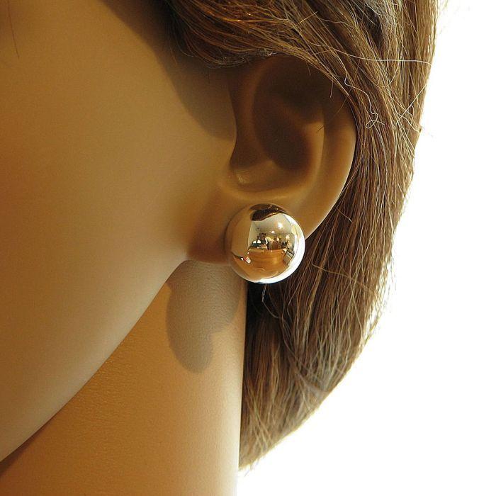 Boucle d'oreille femme 2 boules
