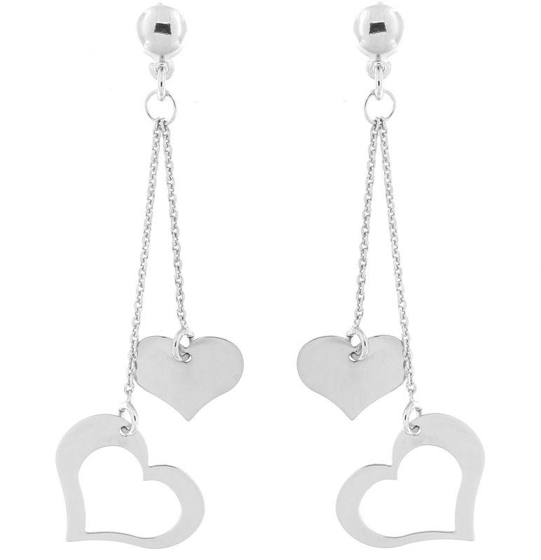 boucles d'oreilles pendantes coeur