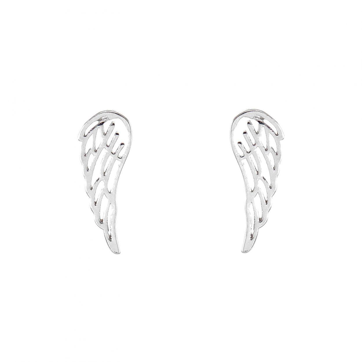 Aile D Ange boucles d'oreilles clou argent rhodié aile d'ange ref. 46580