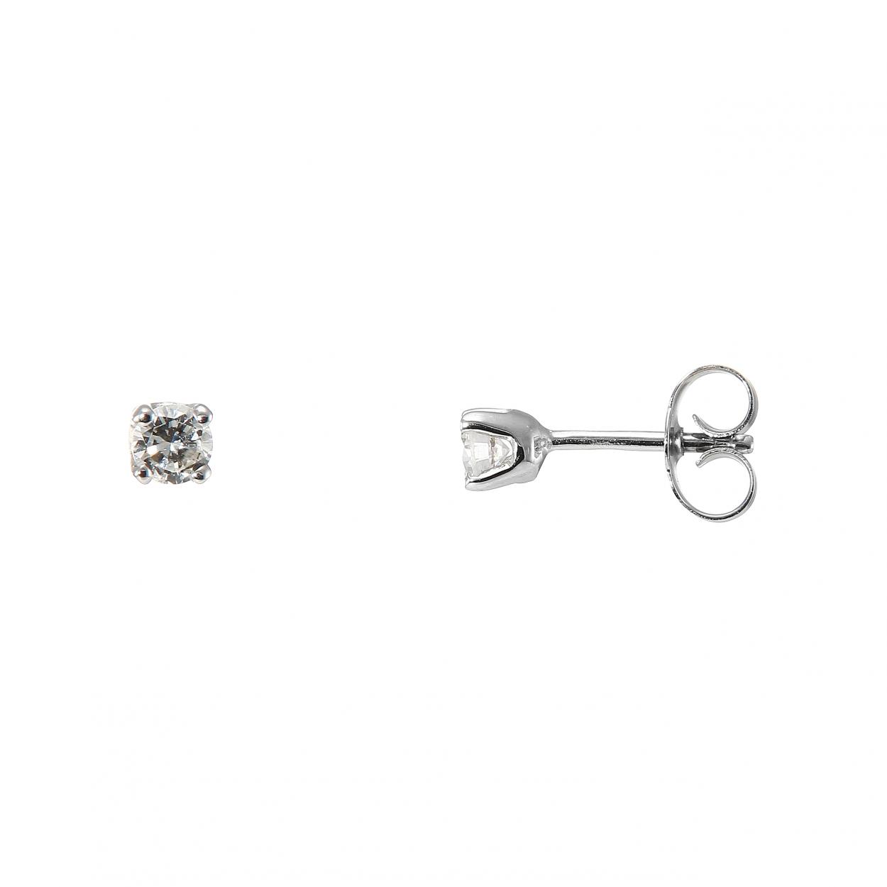boucles d 39 oreilles diamant ct hsi or blanc ref 32150. Black Bedroom Furniture Sets. Home Design Ideas
