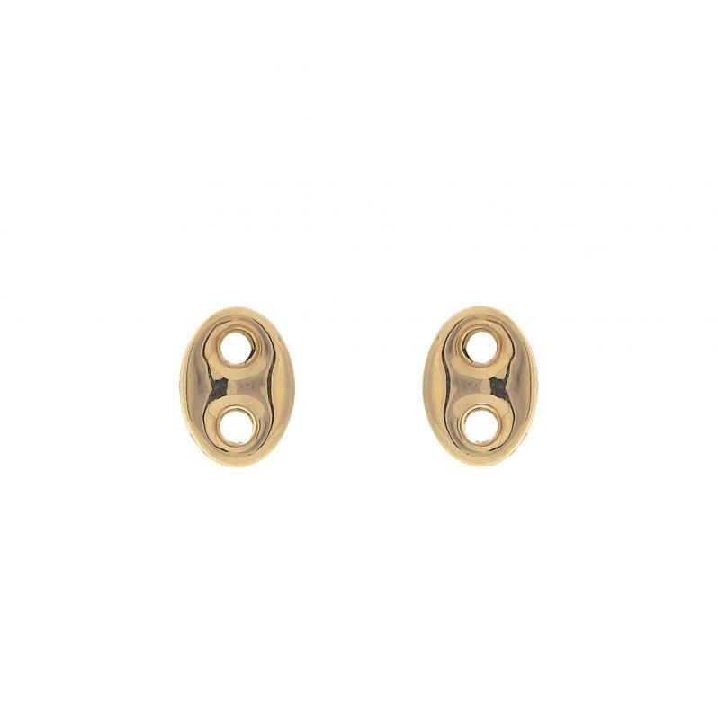 boucles d 39 oreilles grains de caf en or jaune 750 ref 42089. Black Bedroom Furniture Sets. Home Design Ideas