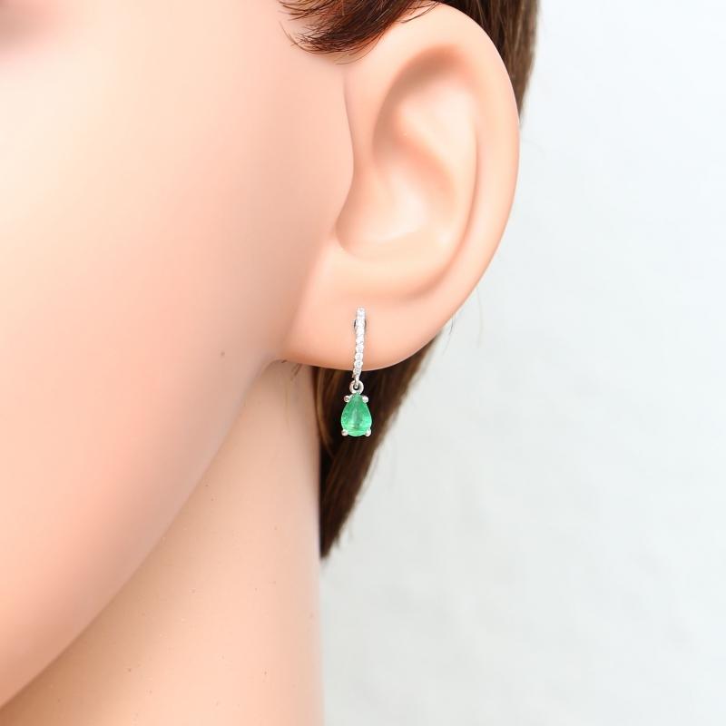 Boucles d'oreilles emeraude pas cher
