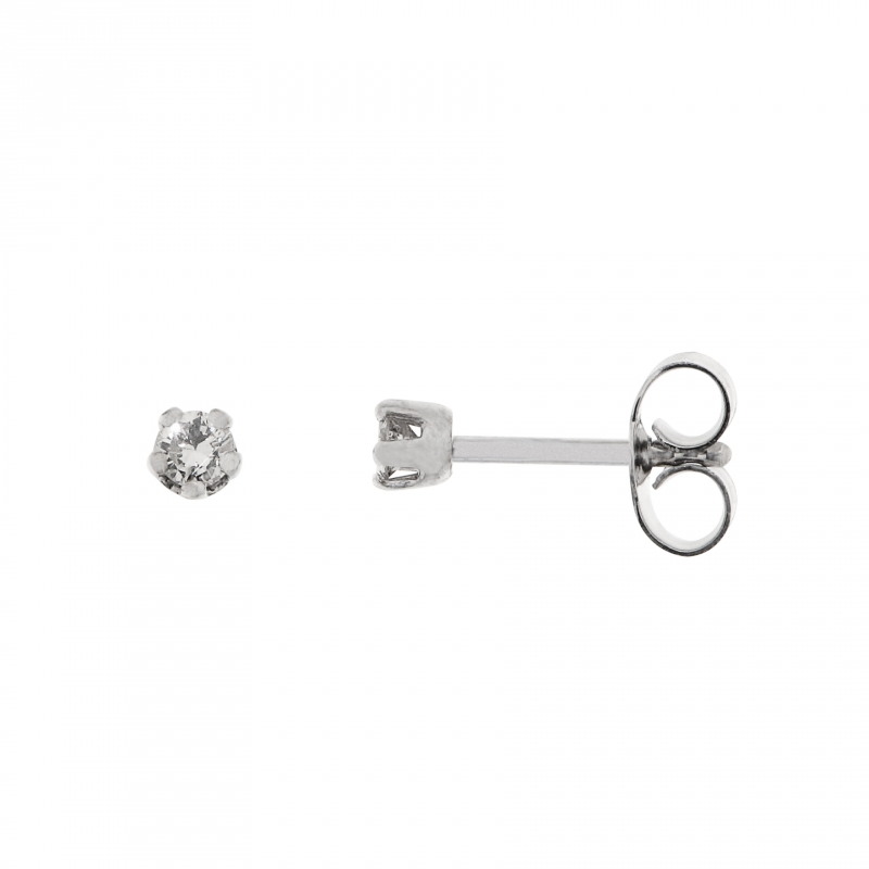 ebfcd5abbe0 Boucles d oreilles Or Blanc Diamant 0.15ct H I1 Ref. 35389