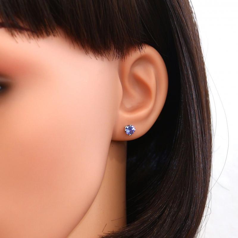 boucle d'oreille tanzanite