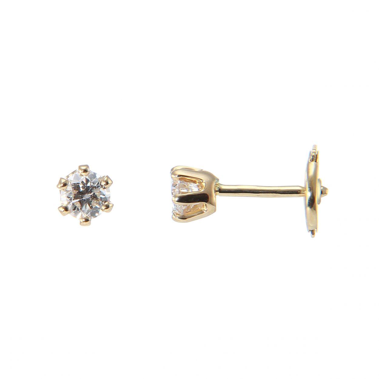boucle d'oreille or diamant
