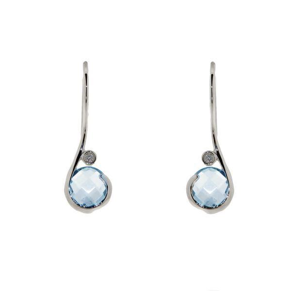 Boucles d'oreilles pendantes blanc
