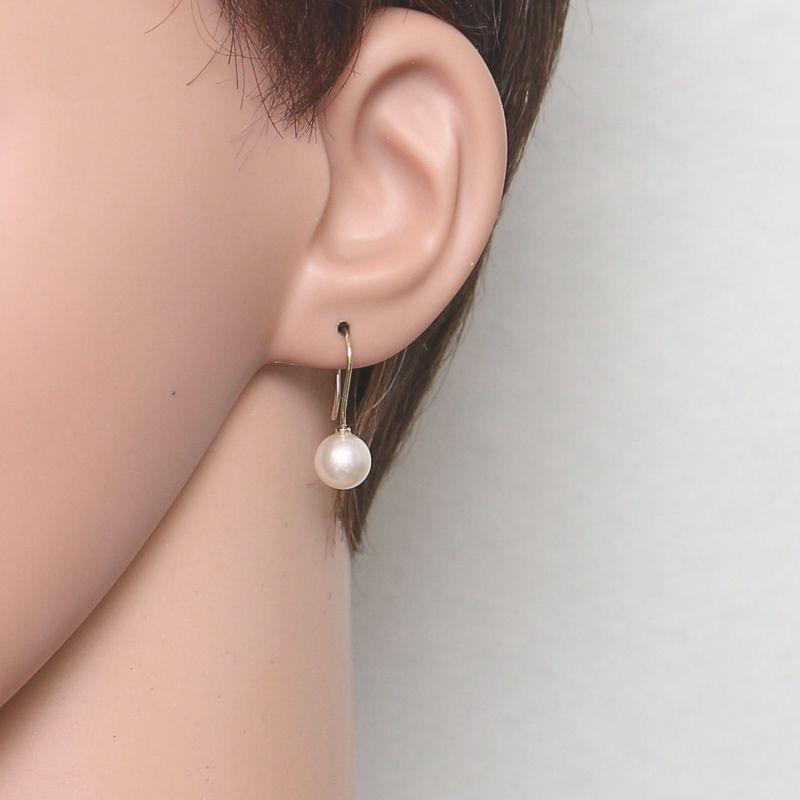joli design super populaire qualité de la marque Boucles d'oreilles pendantes Or Jaune 750 et Perles Akoya 8mm Ref. 43778 |  Bijouterie Trabbia Vuillermoz