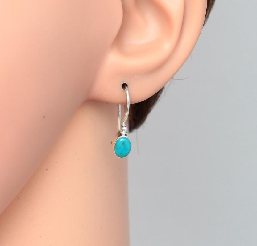 boucle d'oreille avec turquoise