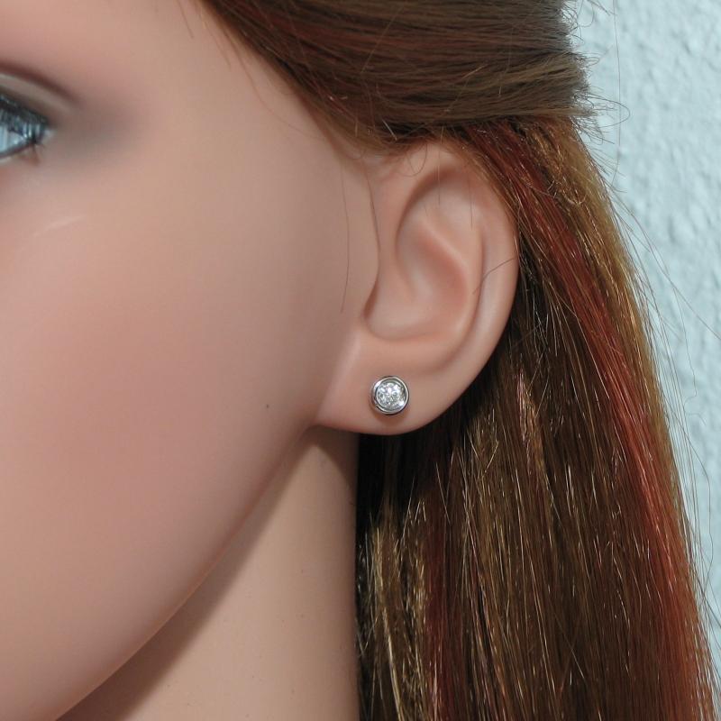 Boucle d'oreille diamant 1 carat