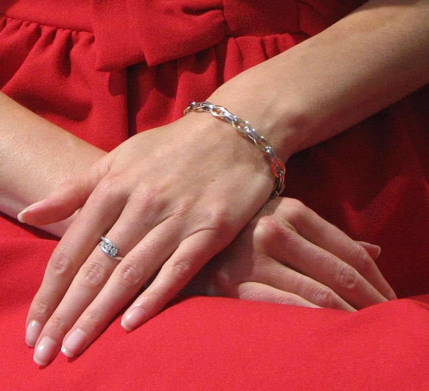 Bracelet 2 Ors 750 maille fantaisie 7.6mm x 19cm Ref. 42091 13e65bd14abf