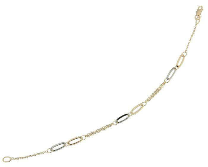 Bracelet 2 Ors 750 Motifs Ovales Ref. 39232 fa1a21fe51e0