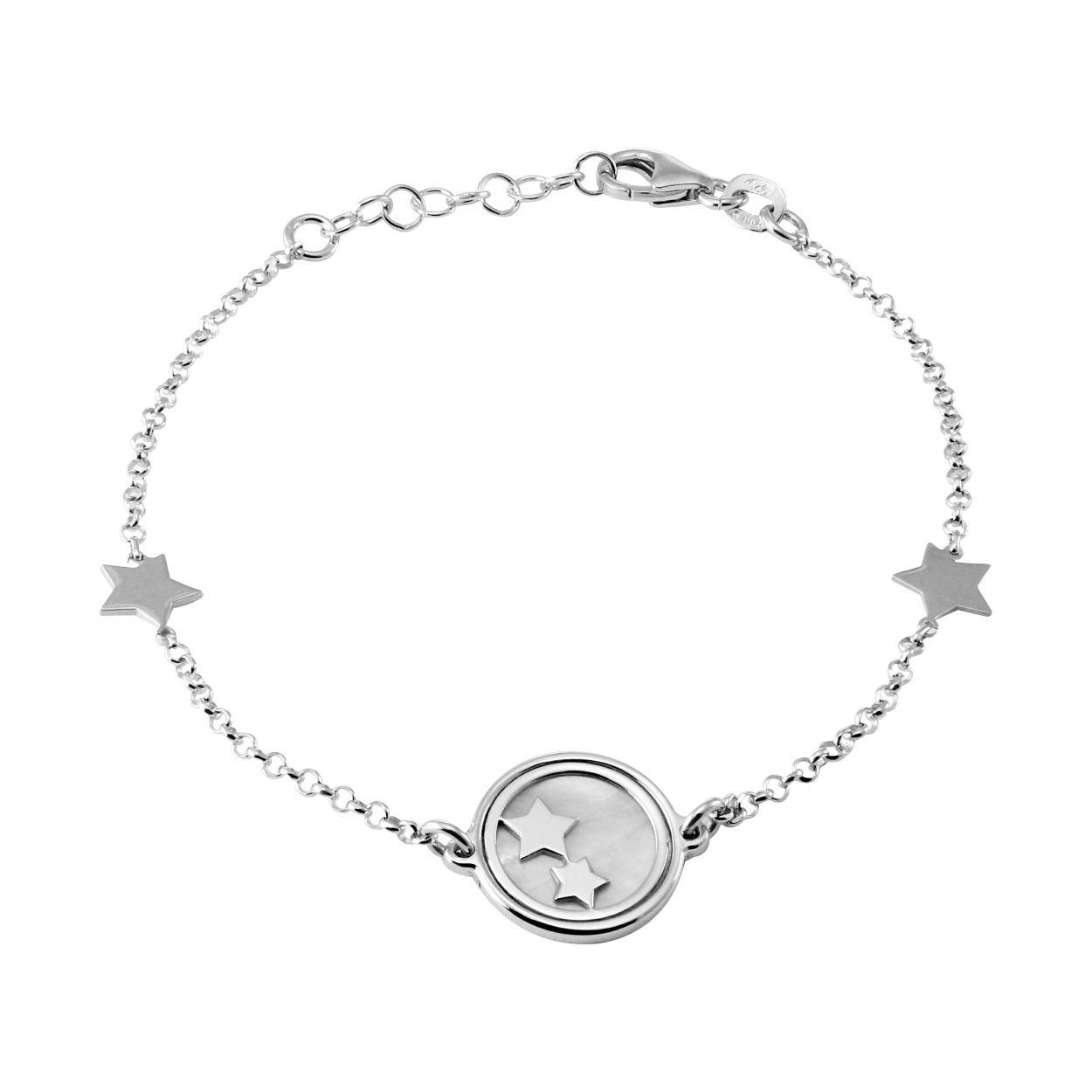 bracelet argent nacre