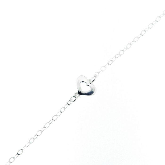 bracelet argent fin et un coeur ref 38790. Black Bedroom Furniture Sets. Home Design Ideas