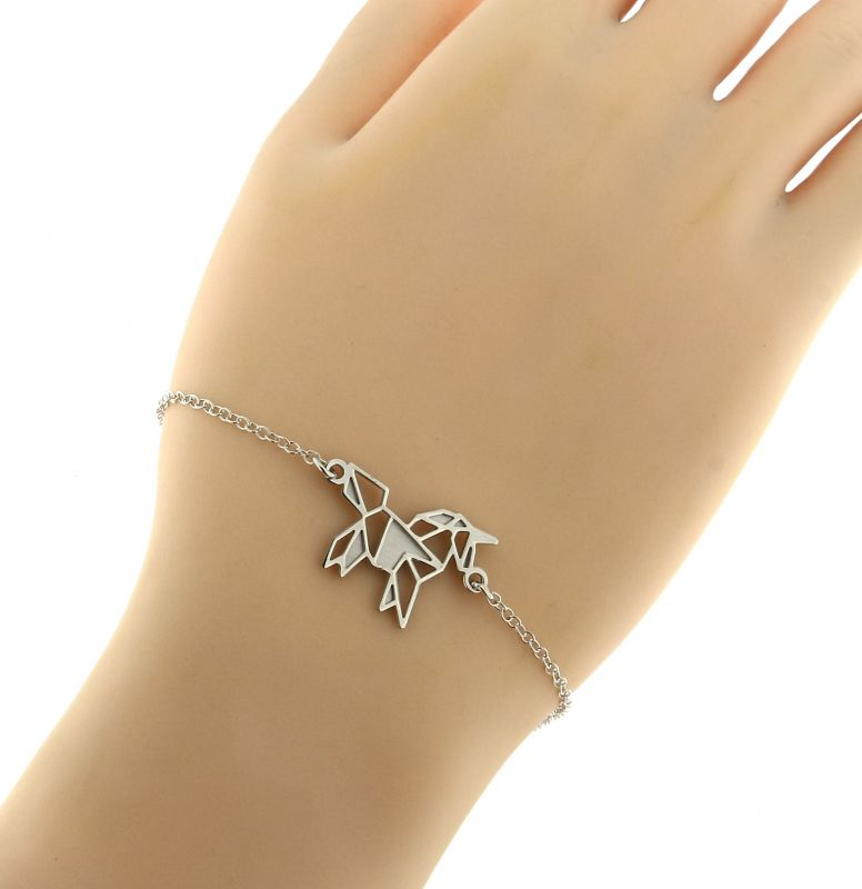 bracelet argent cheval