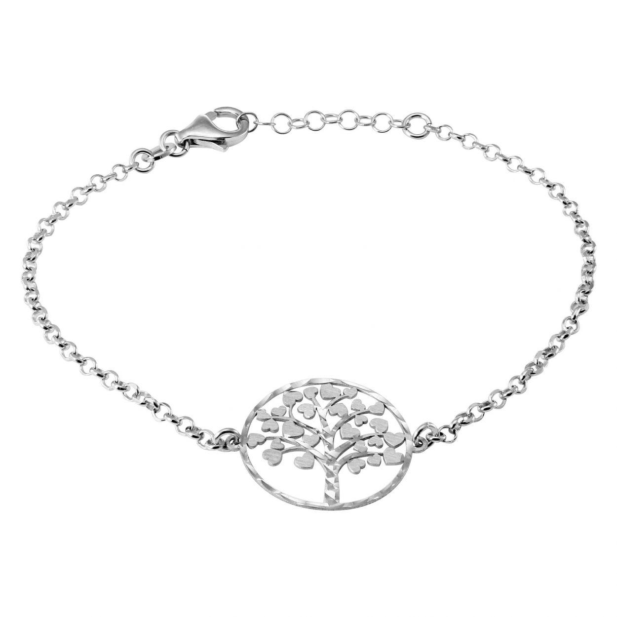 bracelet femme argent rhodie