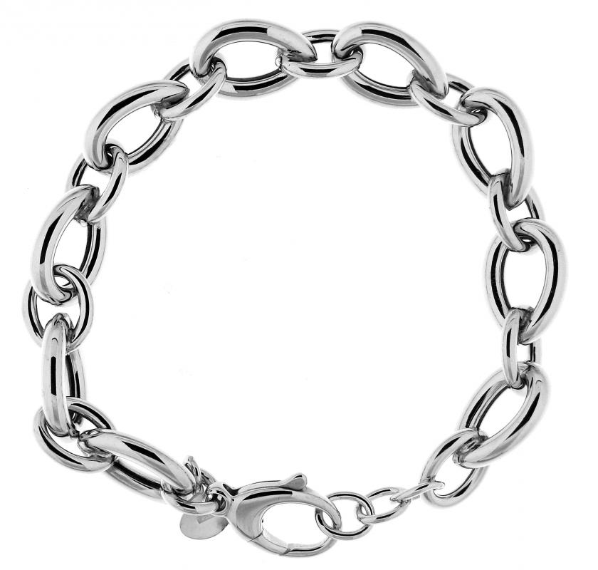 Bracelet Argent Rhodié Maille Poire 11mm x 20cm Ref. 43054 6953a01f494b