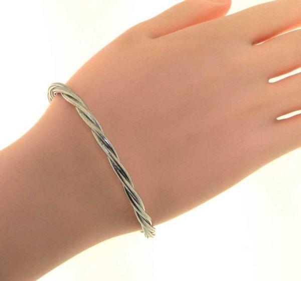 Bracelet maille tressee argent