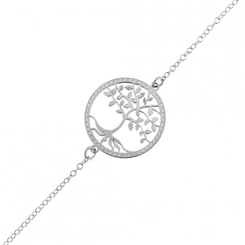 bracelet argent femme arbre de vie