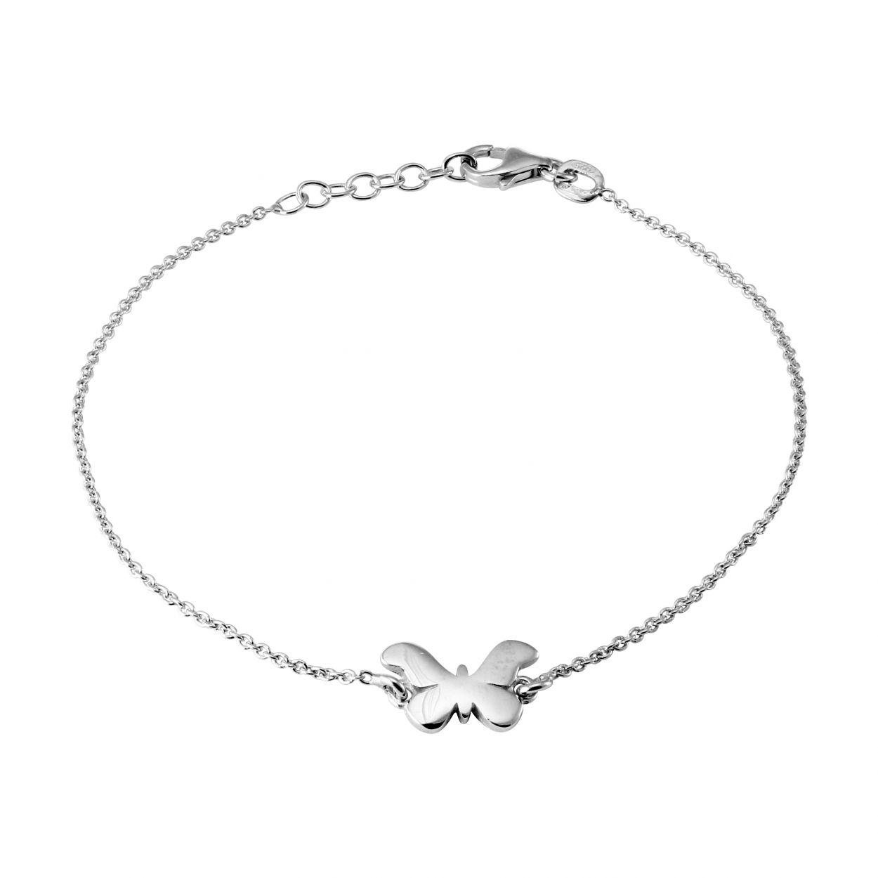 bracelet argent papillon