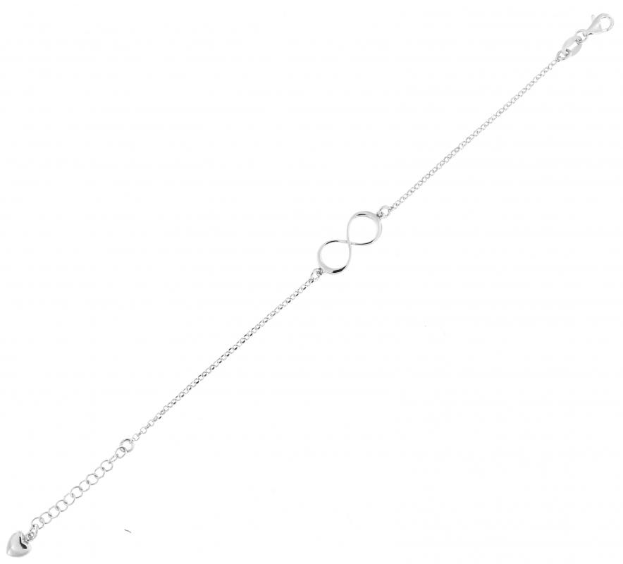 bracelet argent signe infini ref 44430. Black Bedroom Furniture Sets. Home Design Ideas