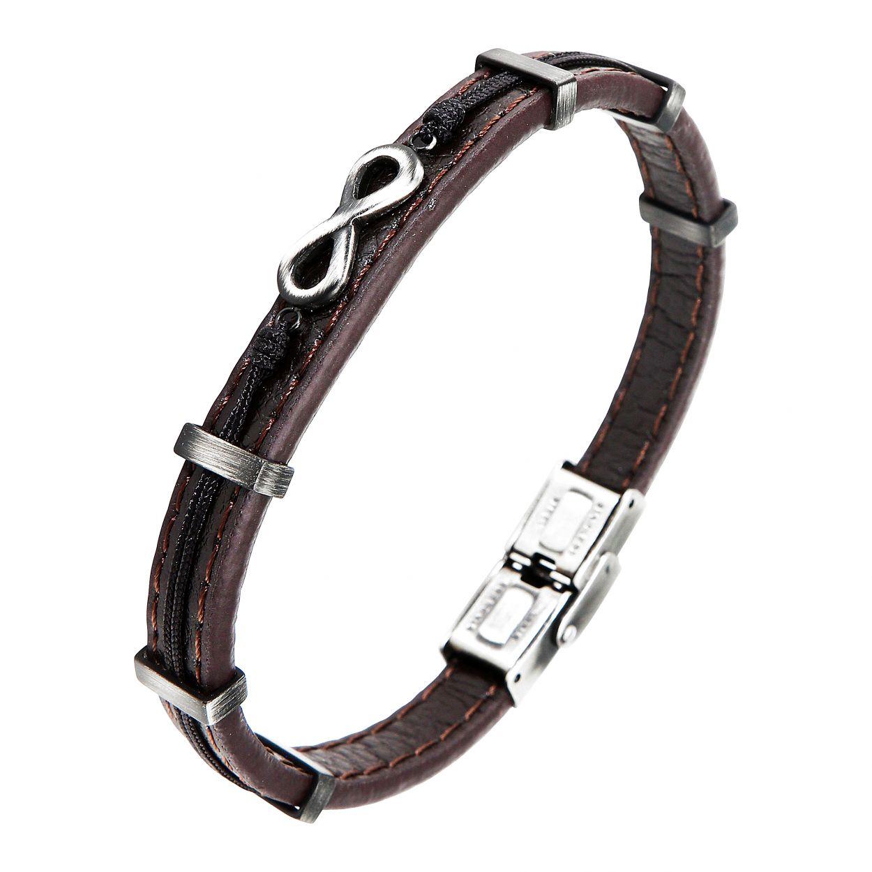 bracelet cuir infini homme