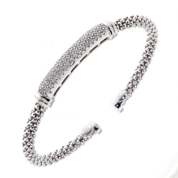 bracelet jonc argent 925 et oxyde de zirconium ref 40723. Black Bedroom Furniture Sets. Home Design Ideas