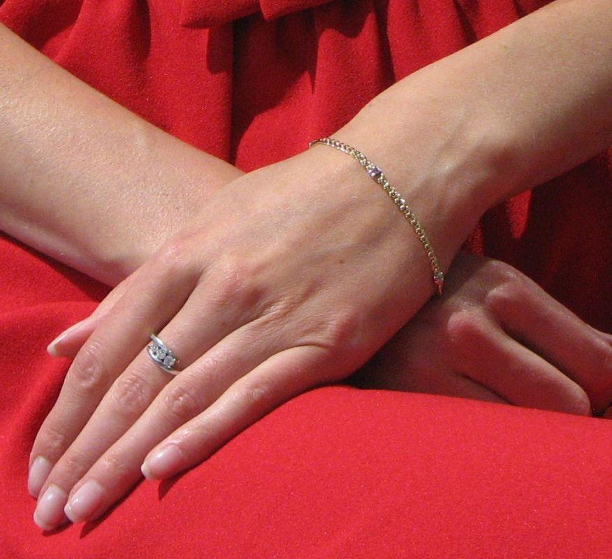 Bracelet maille marine en Or Blanc et Or Jaune 750 3mm x 18cm Ref. 42223 583c35758c07