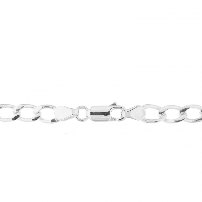 Chaine Argent Homme Maille Gourmette 5mm - 60cm Ref. 20734 2d9f3ee2ba41