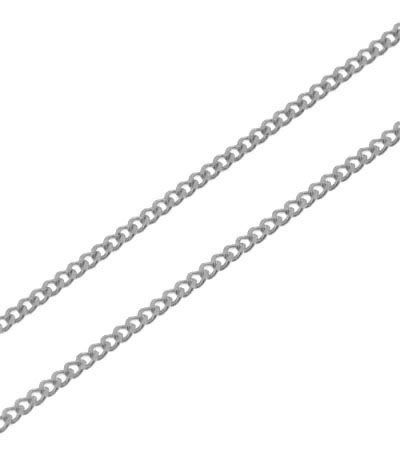 fa918e5c59d Chaine Or Blanc 375 maille gourmette 1.4mm - 45cm Ref. 32370