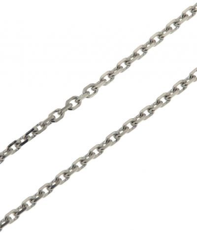 6ca9ebd8e11 Chaine Or Blanc 750 Maille Forçat 1.7mm - 50cm Ref. 29339