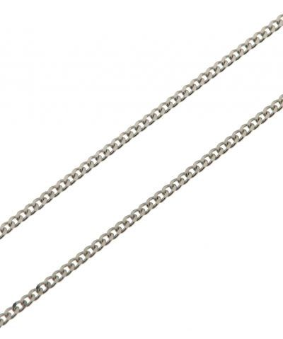98ca2530d85 Chaine Or Blanc 750 Maille Gourmette 1.0mm - 50cm Ref. 29326