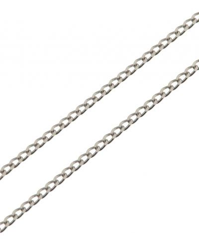 72007a53049 Chaine Or Blanc 750 Maille Gourmette Claire 1.2mm - 40cm Ref. 29330