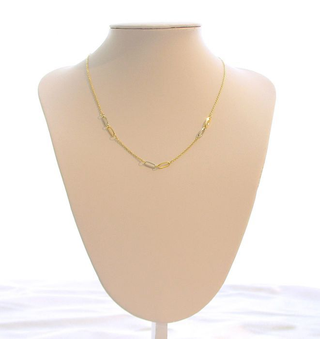 Collier 2 Ors 750 Motifs ovales Ref. 39040 31cb285be1e4