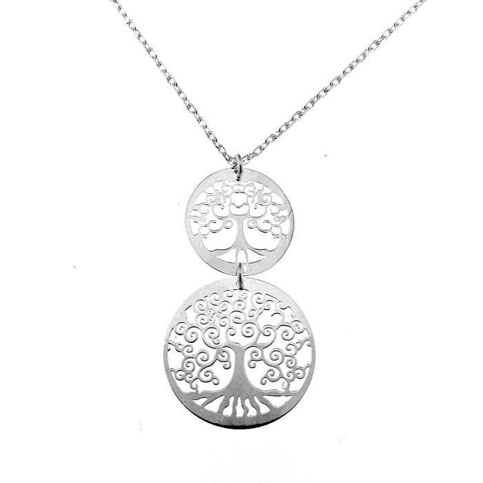 Collier argent arbres de vie ref 39920 - Arbre a collier ...